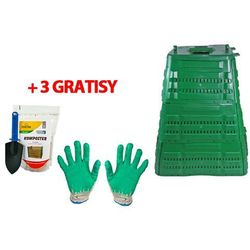 Ogrodowy kompostownik mrozoodporny 720 litrów zielony + 3 GRATISY