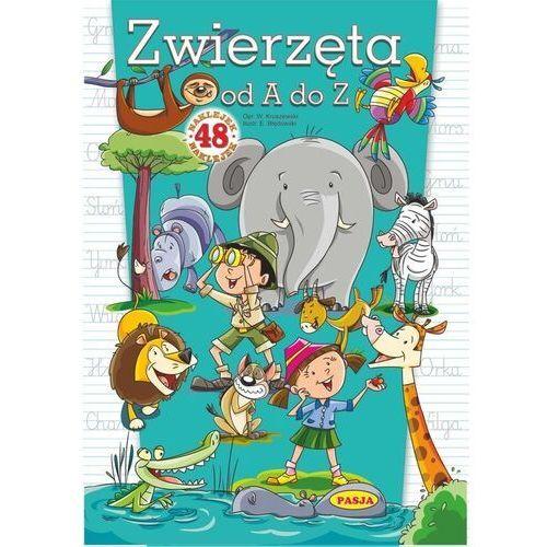 Książki dla dzieci, Zwierzęta od A do Z. 48 naklejek