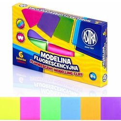 Modelina fluorescencyjna 6 kolorów ASTRA