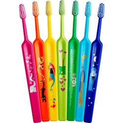 TePe Kids szczotka do zębów dla dzieci extra soft Dark Blue (Small Toothbrush with Tapered Brush Head, 3+ Ages)