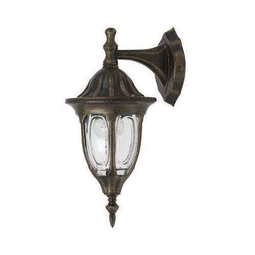 Lampy ścienne, Kinkiet zewnętrzny lampa ścienna Rabalux Milano 1x60W E27 IP43 antyczne złoto 8371