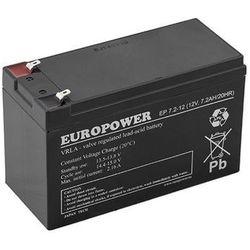 Akumulator żelowy 12V 7,2Ah EUROPOWER (Żywotność 6-9lat)