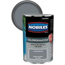 Emalia chlorokauczukowa Nobiles do metalu i betonu szary stalowy 0,9 l
