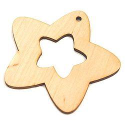 Drewniana dekoracja dzwonek gwiazdka wycięta - GKA Promocja Eko Deco - 03 (-15%)