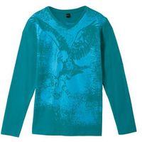 Koszulki z krótkim rękawkiem dziecięce, Shirt z długim rękawem bonprix turkusowy