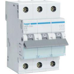 Hager MCB Wyłącznik nadprądowy Icn=6000A 3P C 16A MCN316E