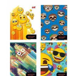 Zeszyt A5 Emoji w trzy linie kolorowe 32 kartki 15 sztuk mix