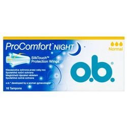 O.B.ProComfort Night Normal komfortowe tampony 1op.- 16szt - Johnson