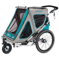 Qeridoo® Przyczepka rowerowa Speedkid2, akwamaryn 2018