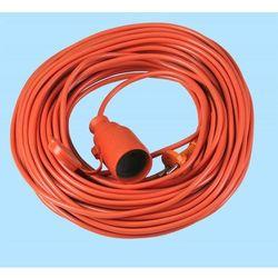 Przedłużacz 1-gniazdowy pomarańczowy 20m IP20 Plast-Rol