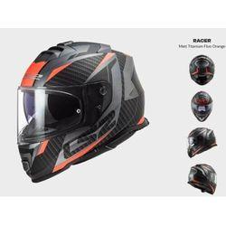 KASK MOTOCYKLOWY LS2 FF800 STORM RACER MATT TITANUM FLUO - kolekcja 2022