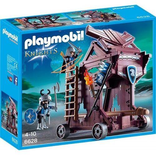 Klocki dla dzieci, Playmobil KNIGHTS Wieża oblężnicza rycerzy herbu orzeł 6628