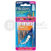 Szczoteczki do zębów, PIKSTERS Regular szczoteczki międzyzębowe DUŻE ROZMIARY Size-8, Size-9 - opakowanie 7szt.