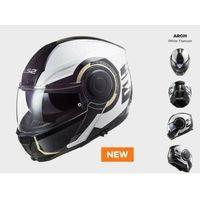 Kaski motocyklowe, KASK MOTOCYKLOWY LS2 FF902 SCOPE ARCH WHITE TITANIUM - nowość 2021/2022