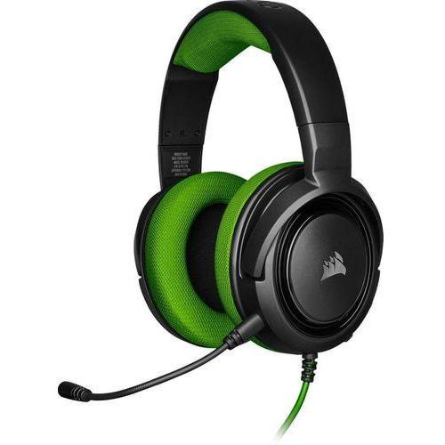 Pozostałe gry i konsole, Corsair słuchawki HS35 Stereo, zielone (CA-9011197-EU)
