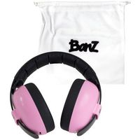 Pozostałe bezpieczeństwo w domu, Słuchawki audio ochronne bluetooth dzieci 3m+ BANZ - Petal Pink