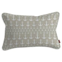 Dekoria Poszewka Gabi na poduszkę prostokątna, kotwice beżowo-białe, 60 × 40 cm, Wyprzedaż do -50%