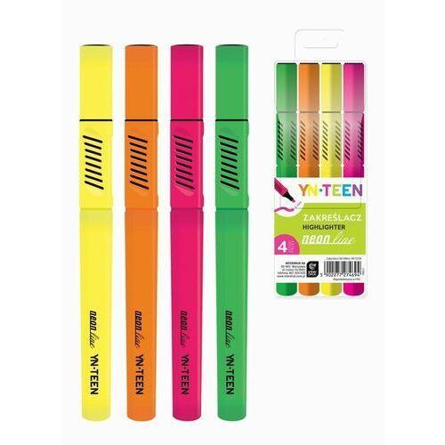 Mazaki i flamastry, Zakreślacz Neoline 4 kolory YN TEEN