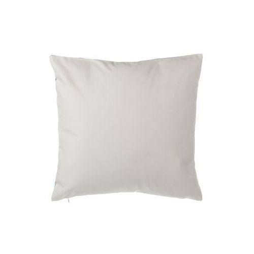 Poduszki, Poduszka dekoracyjna w łaty bawełniana fioletowa/srebrna 45 x 45 cm