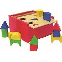 Zabawki z drewna, Woody pudełko z klockami - małe - BEZPŁATNY ODBIÓR: WROCŁAW!