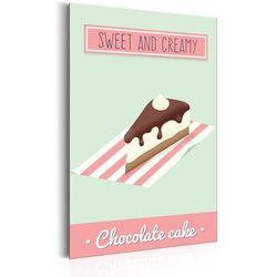 Plakat metalowy - Smacznego: Tort czekoladowy [Allplate]