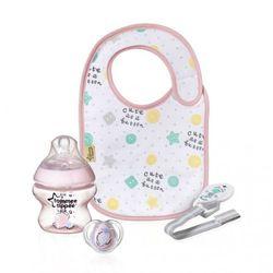 TOMMEE TIPPEE Baby Gift Różowy zestaw prezentowy Butelka + akcesoria
