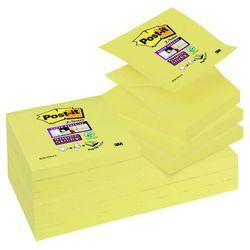Bloczek samop. POST-IT® Super sticky Z-Notes (R330-12SS-CY), 76x76mm, 90 kart., żółty