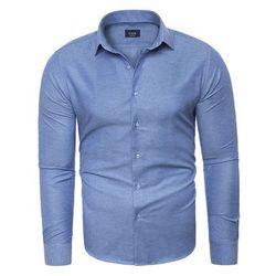 Koszula męska długi rękaw C.S.S 275 - niebieska