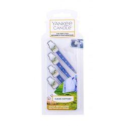 Zapach YANKEE car vent stick Clean Cotton 4szt - YCVSCC1