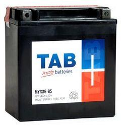 Akumulator motocyklowy TAB YTX16-BS (MYTX16-BS) 12V 14Ah 230A L+