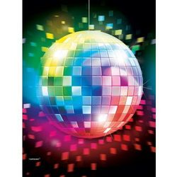 Obrus foliowy na Disco Party, Lata 70-te