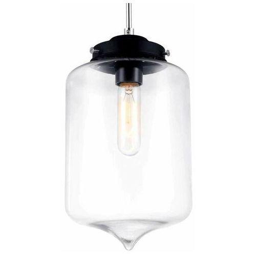 Lampy sufitowe, Skandynawska LAMPA wisząca TUBE MDM2095/1 A Italux szklana OPRAWA zwis szkło lustrzane