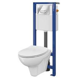 Zestaw podtynkowy WC Cersanit Lotos z deską z duroplastu przycisk chrom