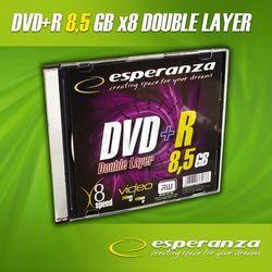 DVD+R ESPERANZA 8.5GB X8 DOUBLE LAYER SLIM 1SZT DVD+R ESPERANZA 8.5GB X8 DOUBLE LAYER SLIM 1SZT