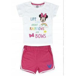 Disney piżama dziewczęca Minnie 122 biały/różowy