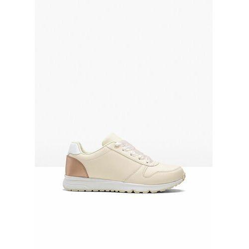 Damskie obuwie sportowe, Sneakersy bonprix beżowy