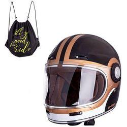 Kask motocyklowy W-TEC V135 Fiber Glass Black, M (57-58)