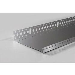 Listwa cokołowa startowa 203mm aluminiowa 0.8mm profil startowy cokołowy 20cm L=2.5mb - pakiet 10 sztuk