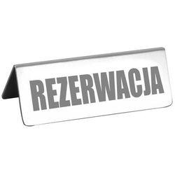 Tabliczka REZERWACJA 120x35x43 mm | TOMGAST, DH-3801-012