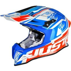 KASK JUST1 J12 DOMINATOR WHITE-BLUE-RED