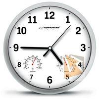 Zegary, Esperanza Zegar ścienny Lyon biały (EHC016W) Szybka dostawa! Darmowy odbiór w 21 miastach!