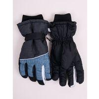 Odzież do sportów zimowych, Rękawiczki narciarskie męskie niebieskio-grafitowe 20