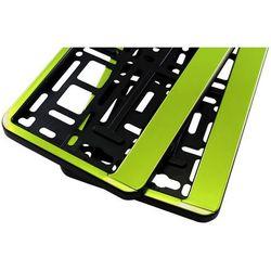 Ramki pod tablicę rejestracyjną HP Zielone 2 szt - Zielone