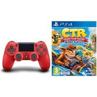 Gamepady, Sony DualShock 4 v2 (czerwony) + Crash Team Racing Nitro-Fueled