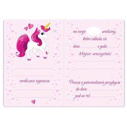 Zaproszenie urodzinowe Różowy Jednorożec - 1 szt.