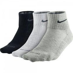 Skarpety Nike Dri-FIT Cotton Quarter 3pak SX4847-901