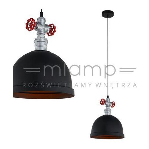 Lampy sufitowe, Lampa wisząca Mokka 1 x 60 W E27 czarna