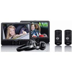 Przenośny odtwarzacz DVD LENCO DVP-939 (dwa ekrany) Czarny