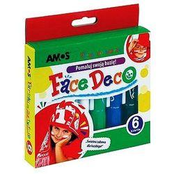 Farby do twarzy 6 kolorów Amos