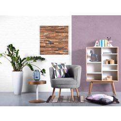 Fotel jasnoszary - wypoczynkowy - do salonu - tapicerowany - ODENZEN